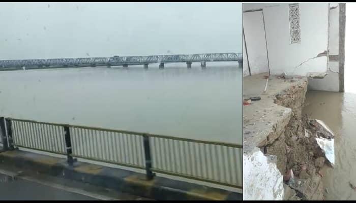 गोंडा: घाघरा नदी के बढ़ते जलस्तर ने मचाई तबाही, नदी में समाए 6 लोगों के आशियाने, स्कूल के वजूद पर भी खतरा