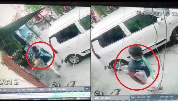 Gonda News:  सरे बाजार दुकान के बाहर से चोरी किया बैग, चोरी करते सीसीटीवी कैमरे में कैद हुआ शख्स