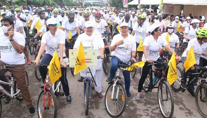 सुपोषित छत्तीसगढ़ के संकल्प के साथ राजधानी में निकली विशाल साइकिल रैली: बोली मंत्री अनिला भेंड़िया- छत्तीसगढ़ को कुपोषण मुक्त बनाने हर व्यक्ति, परिवार, समाज, संगठन का सहयोग जरूरी
