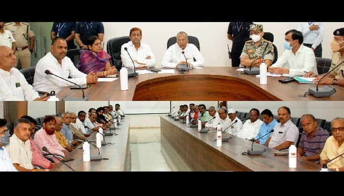 शांति का टापू है छत्तीसगढ़: गृह मंत्री साहू और विधि-विधायी मंत्री अकबर ने कवर्धा में 'सर्व समाज प्रमुखों' के साथ की बैठक
