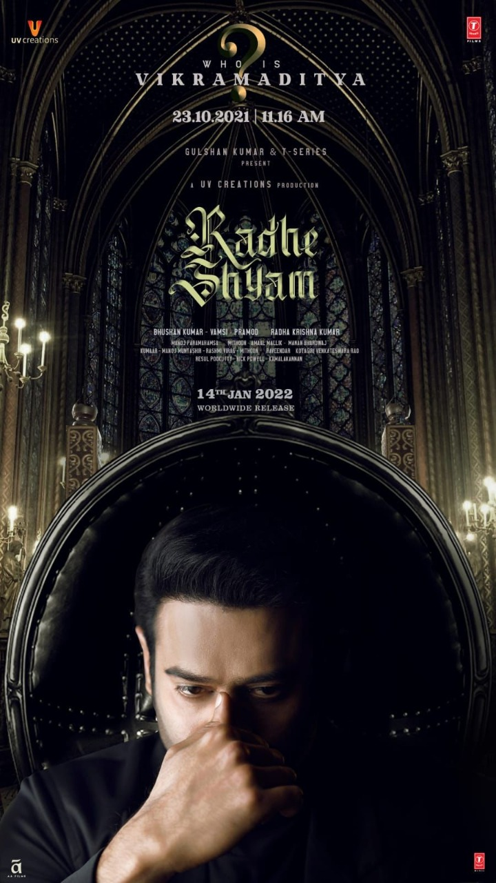 विक्रमादित्य कौन है? फ़िल्म 'राधेश्याम' से प्रभास का नया पोस्टर हुआ रिलीज़; उनके जन्मदिन पर आएगा टीजर!